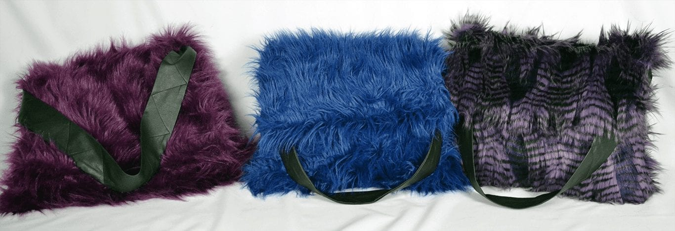 Chaka Khan K9 Bags [Small Purple & Racoon & Blue]
