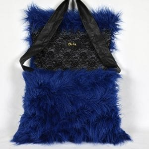 Royal Blue K9 Bag by Chaka Khan [Small] Flap Open View